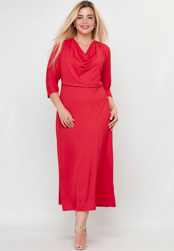 женское платье макси limonti, красное