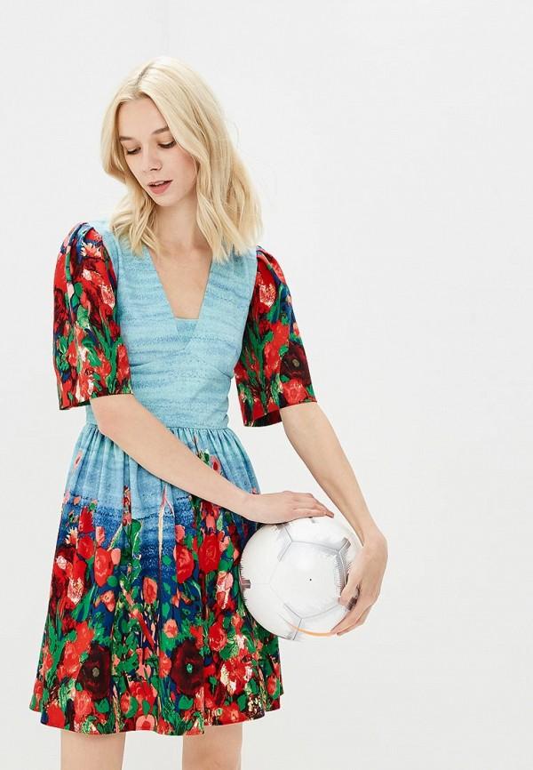 Купить Платье Galina Vasilyeva, MP002XW18ZAU, голубой, Весна-лето 2018
