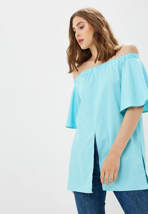 Купить Блуза Vittoria Vicci, MP002XW18ZJN, голубой, Весна-лето 2018