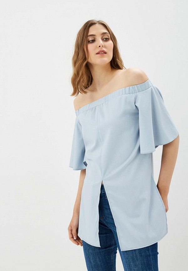 Купить Блуза Vittoria Vicci, MP002XW18ZJS, голубой, Весна-лето 2018