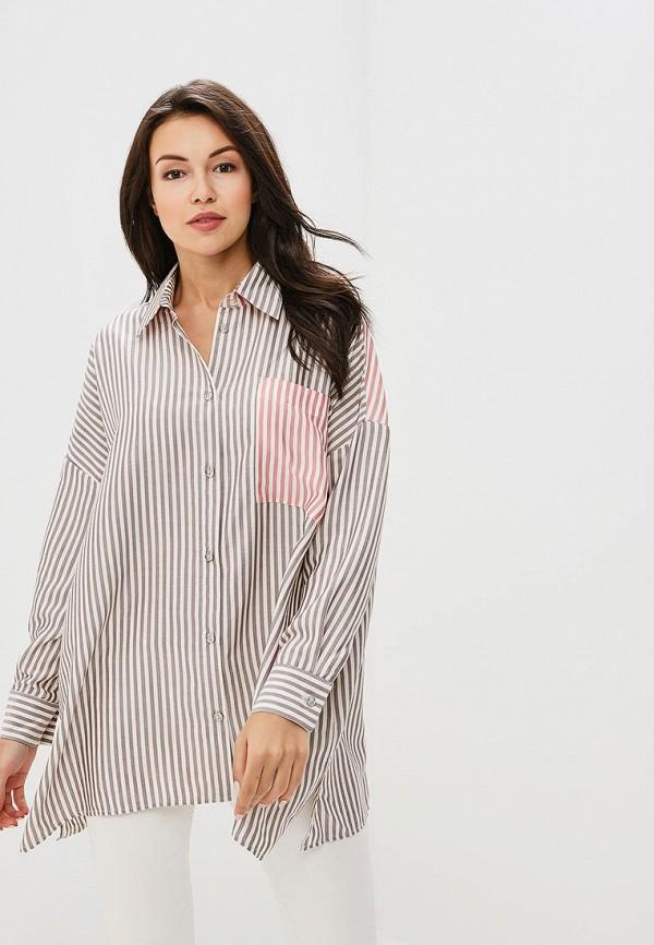 Рубашка L1FT, mp002xw18zog, коричневый, Весна-лето 2018  - купить со скидкой