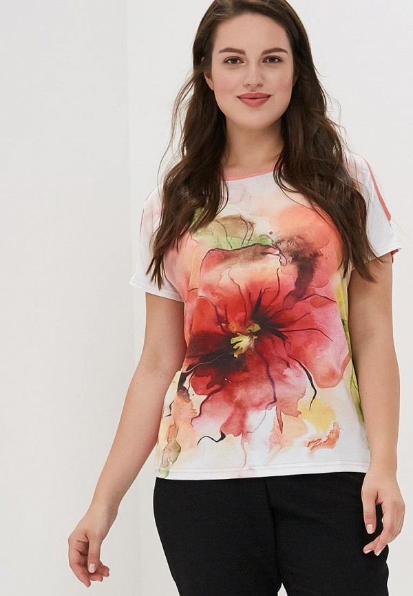 Фото - Женскую футболку MaDenna кораллового цвета