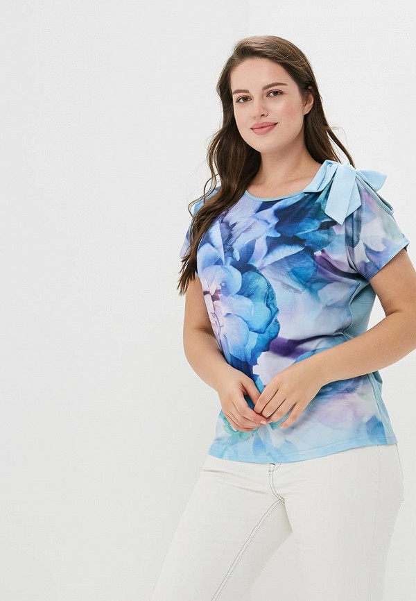 Фото - Женскую футболку MaDenna голубого цвета