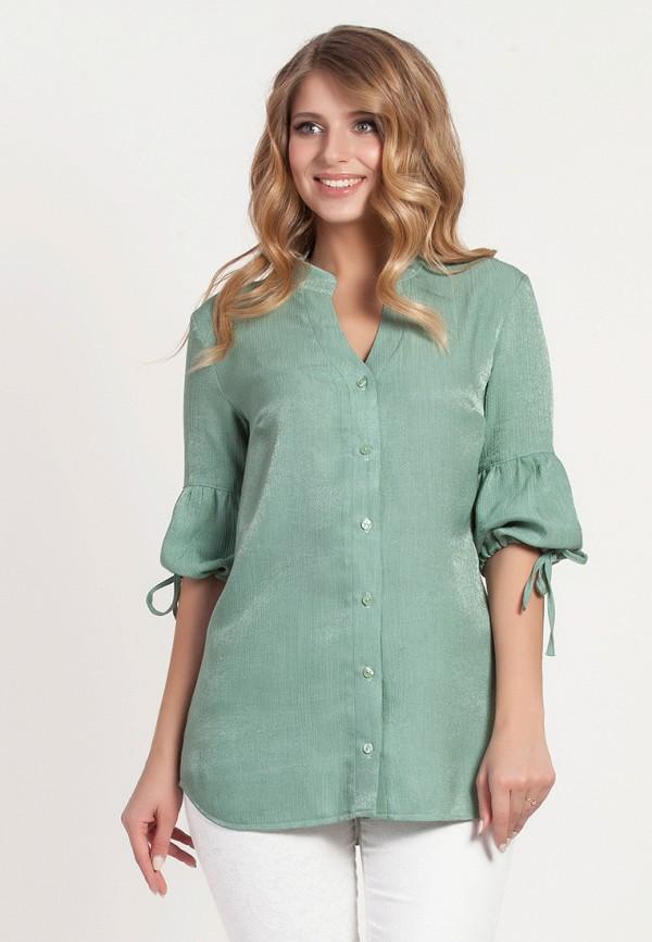 женская блузка olga peltek, зеленая