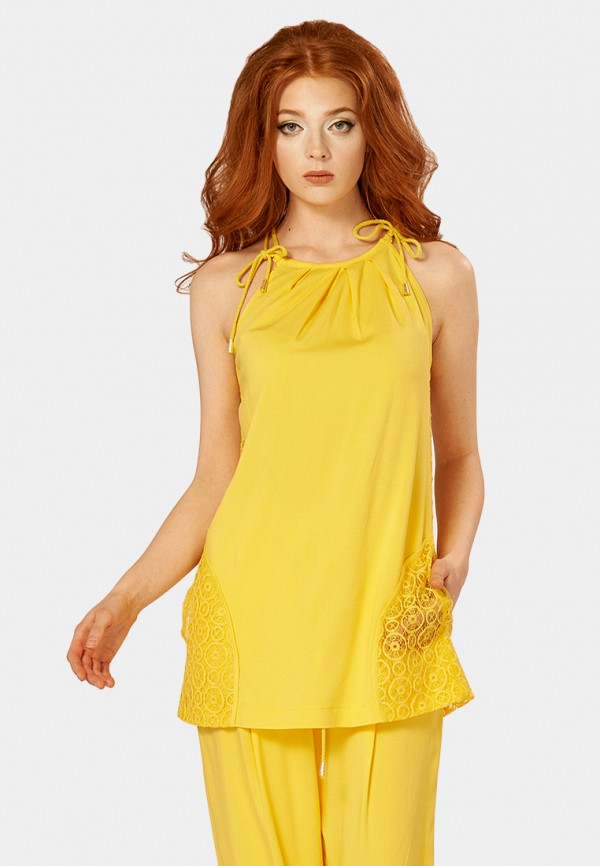 женская туника ано, желтая