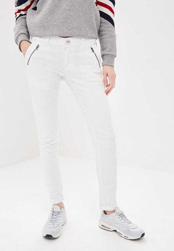 женские повседневные брюки blue monkey, белые