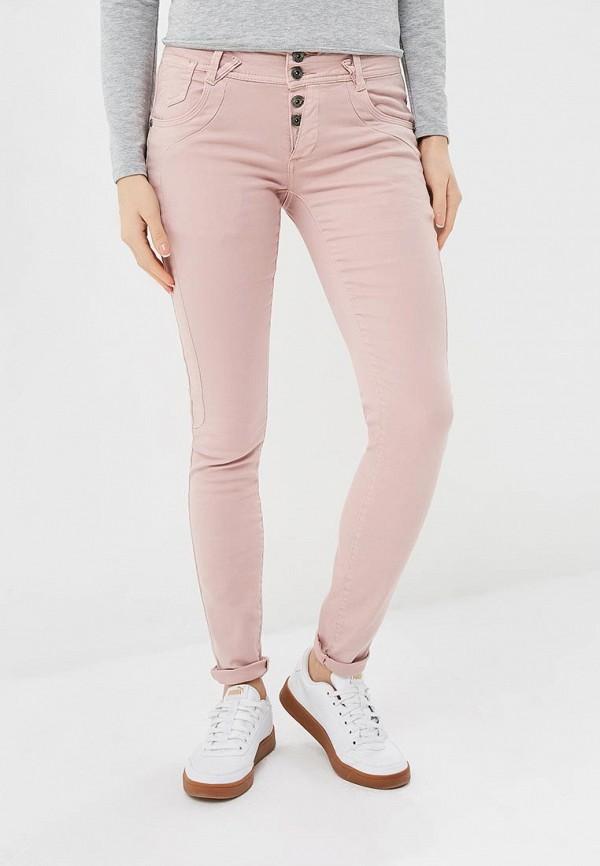 женские повседневные брюки blue monkey, розовые