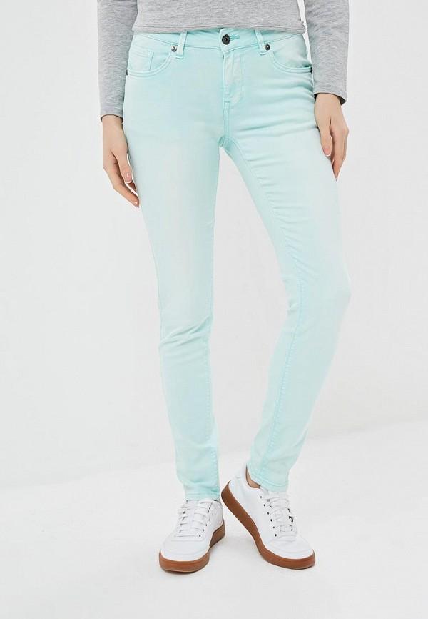 женские повседневные брюки blue monkey, бирюзовые
