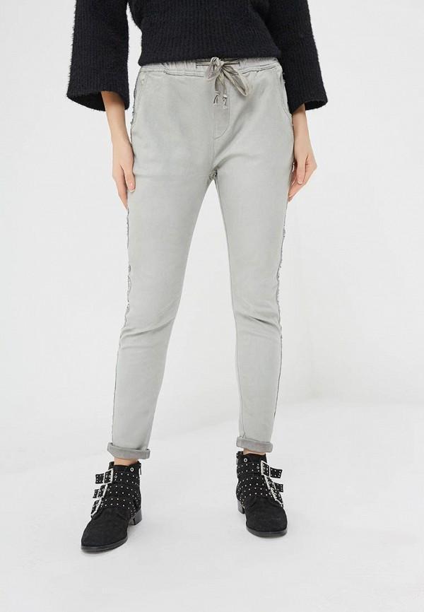 женские повседневные брюки blue monkey, серые