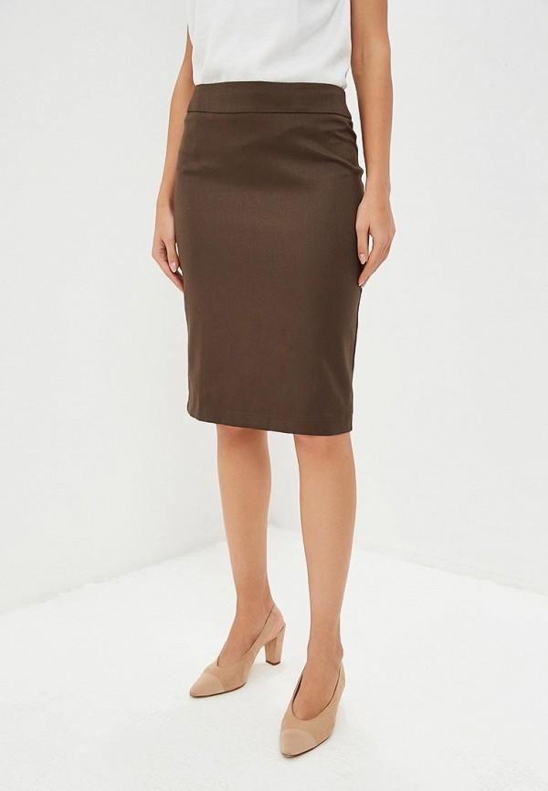 женская зауженные юбка yansstudio, коричневая