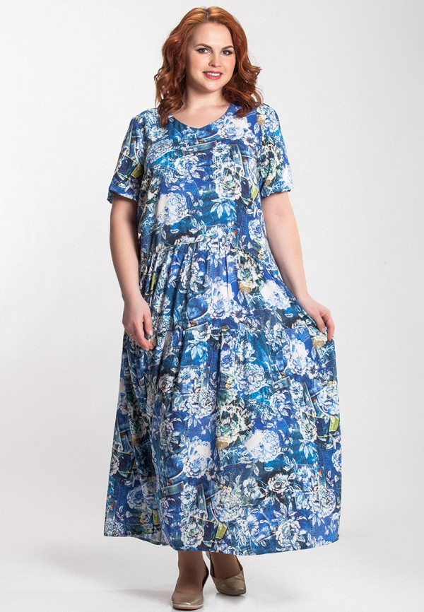 женское платье olga peltek, синее