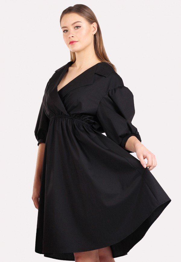 женское повседневные платье panove, черное