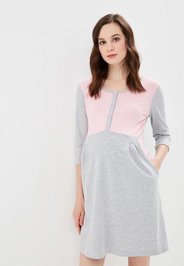 Купить Платье домашнее Fest, mp002xw191w2, серый, Весна-лето 2018