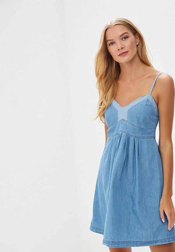 женский джинсовые сарафан colin's, голубой