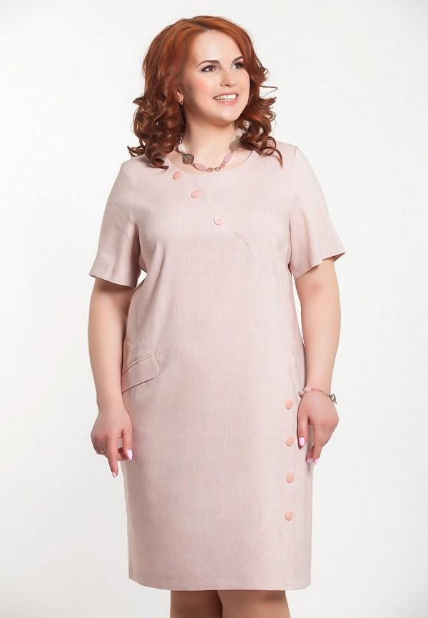 женское платье миди olga peltek, розовое