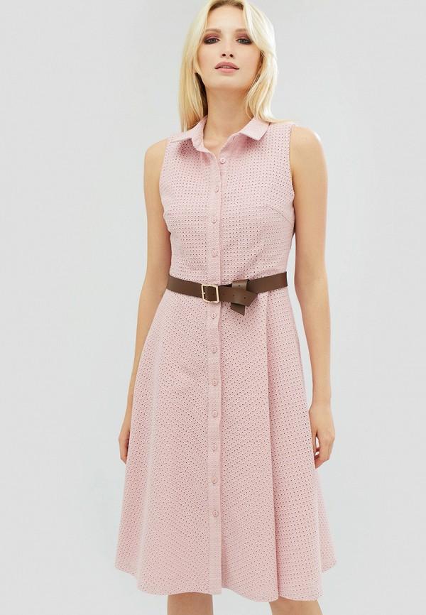 женское повседневные платье cardo, розовое
