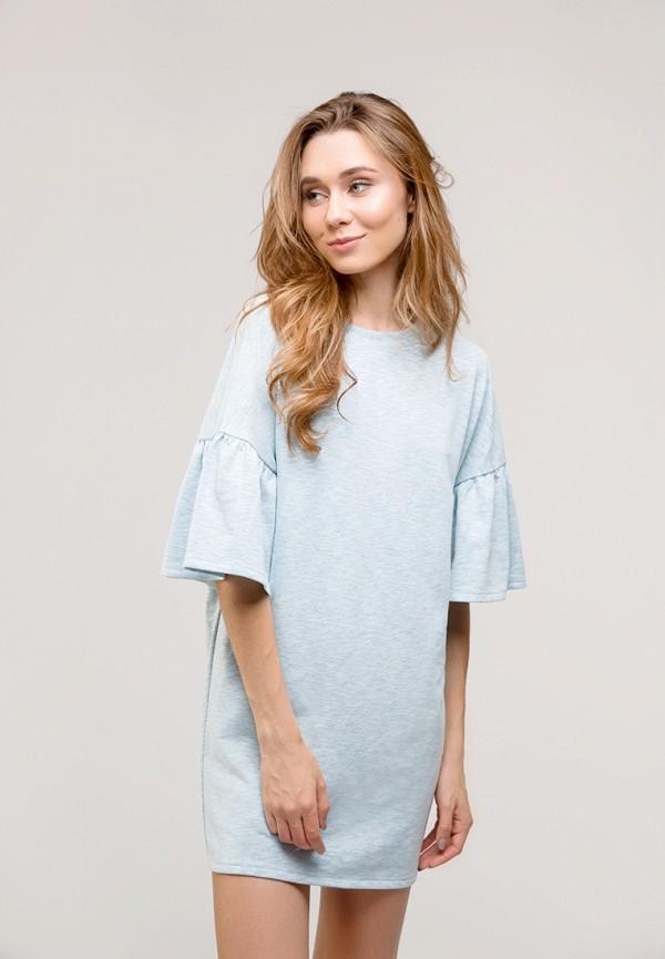 женское повседневные платье gee!, голубое