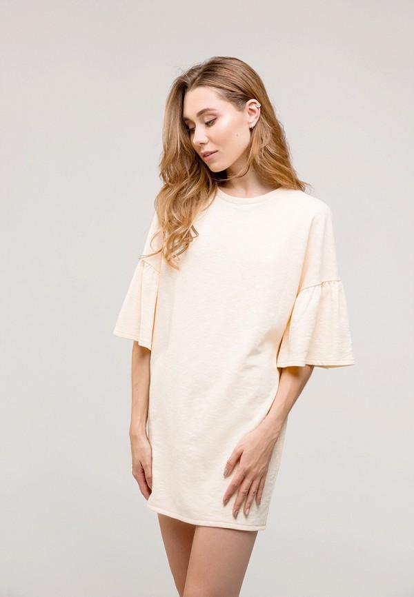 женское повседневные платье gee!, бежевое