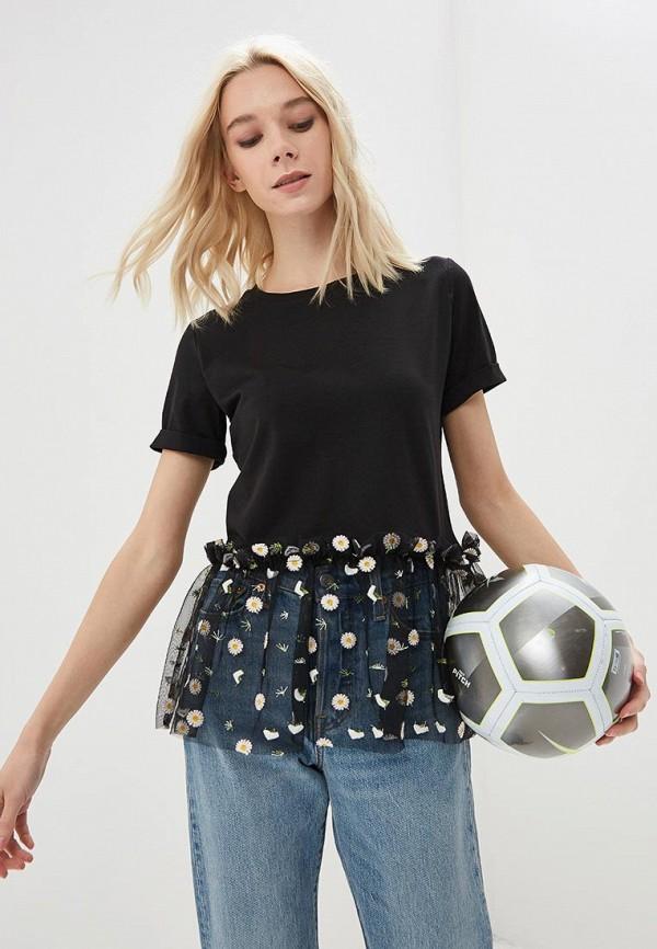 Купить Футболка Fashion.Love.Story, MP002XW192T2, черный, Весна-лето 2018