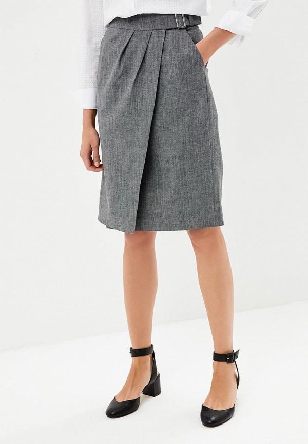 женская прямые юбка annborg, серая