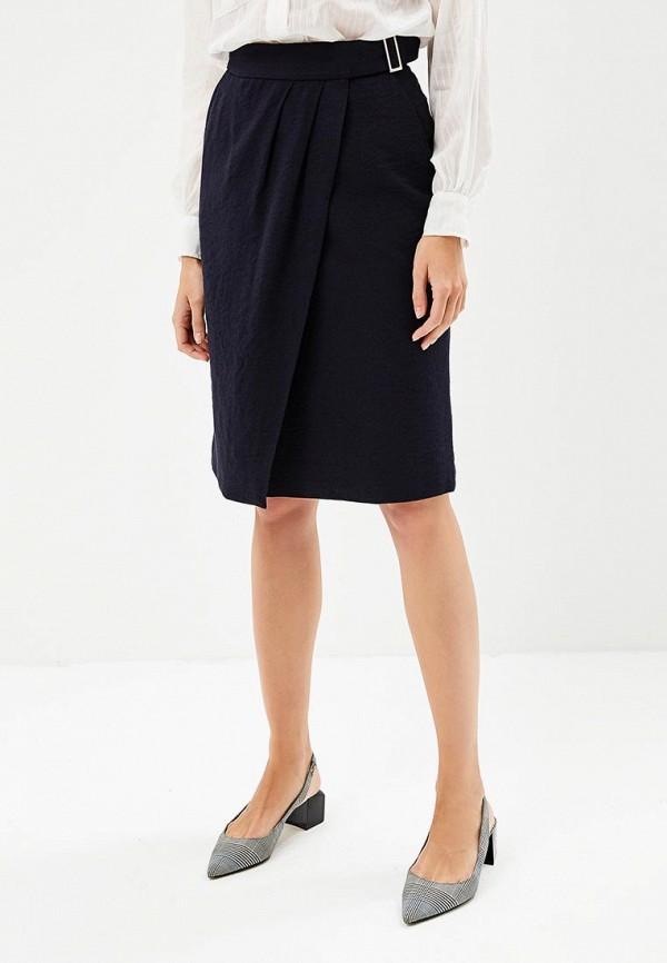 женская прямые юбка annborg, синяя