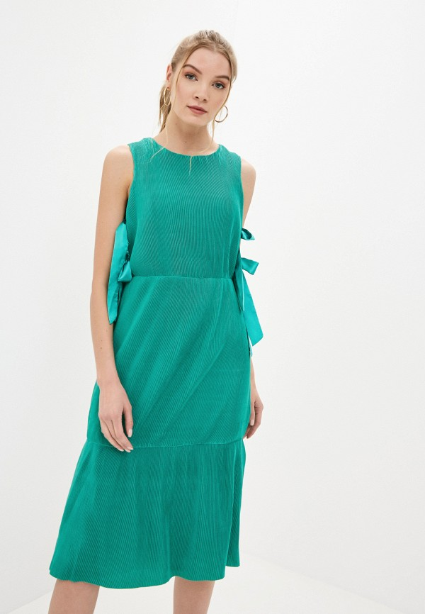женское платье миди cavo, зеленое