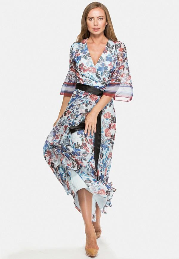женское платье макси cavo, голубое