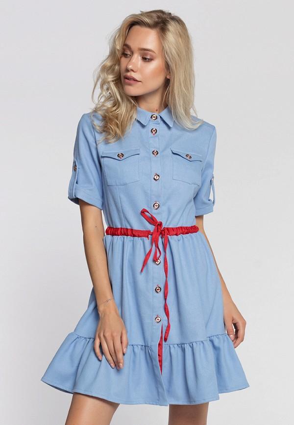 Купить Платье джинсовое Lezzarine, MP002XW1949J, голубой, Весна-лето 2018