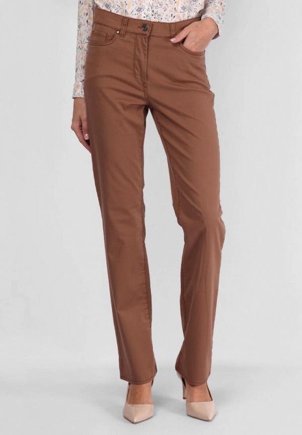 женские прямые брюки lagrand, коричневые