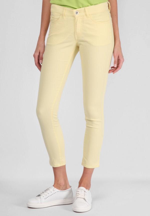 женские прямые брюки lagrand, желтые