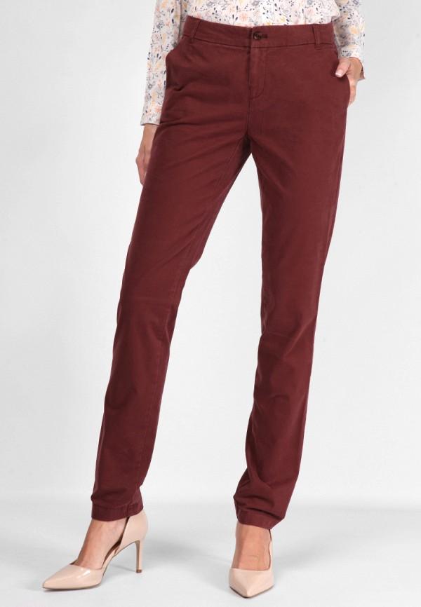 женские прямые брюки lagrand, бордовые