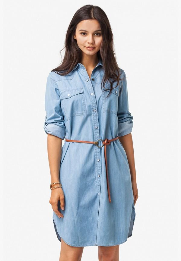 Платье джинсовое Vilatte Vilatte MP002XW195QE платье vilatte vilatte mp002xw193ga