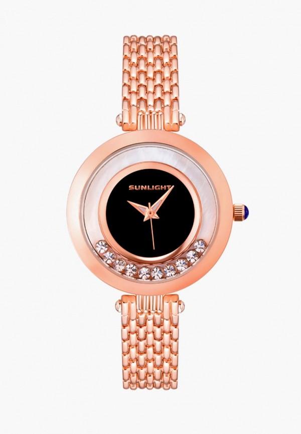 женские часы sunlight, золотые