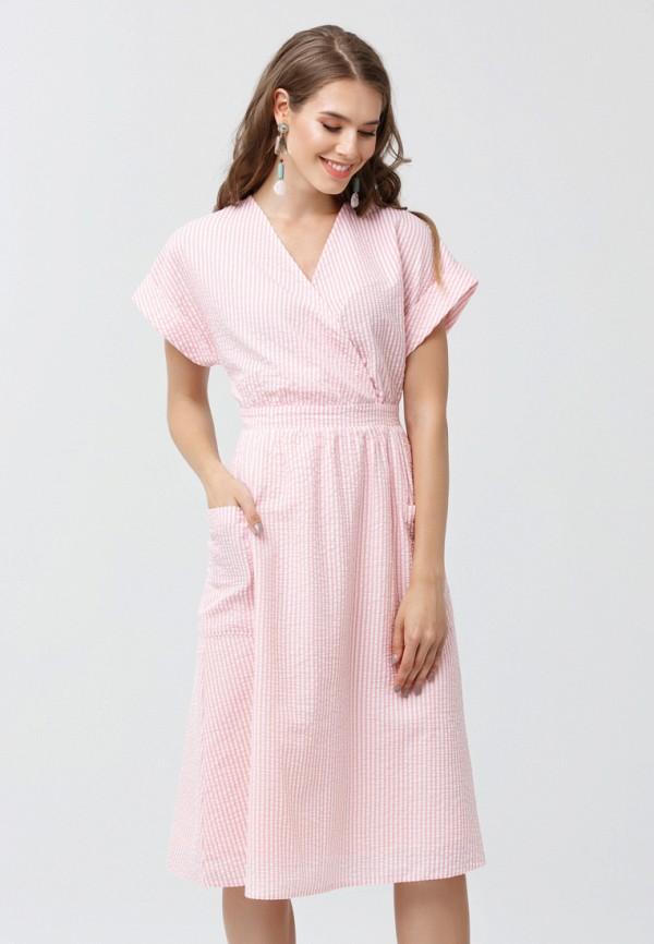 женское платье миди oks by oksana demchenko, розовое