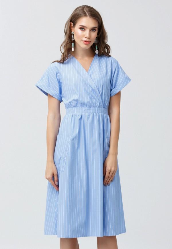 женское платье миди oks by oksana demchenko, голубое