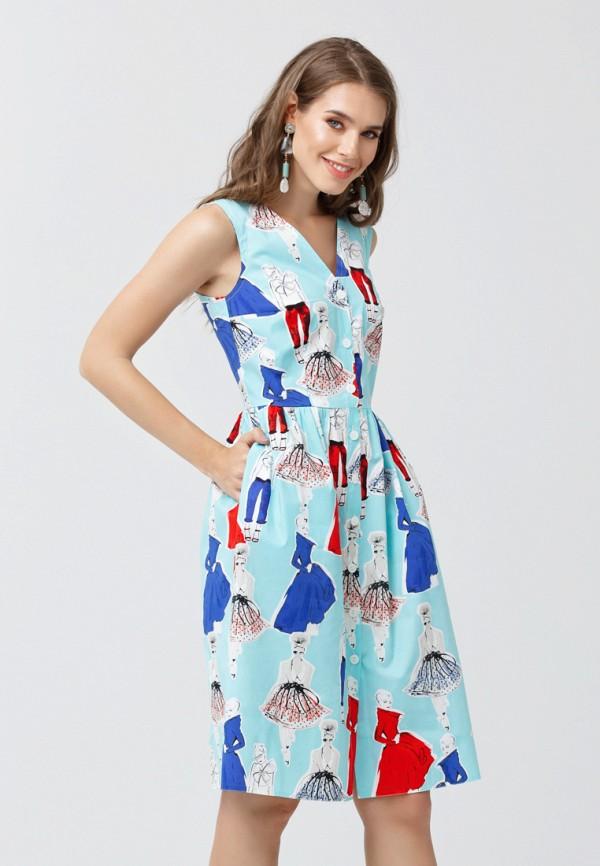 женское платье миди oks by oksana demchenko, бирюзовое