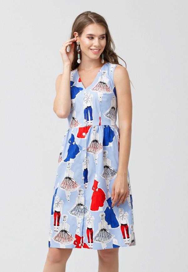 женское платье мини oks by oksana demchenko, голубое