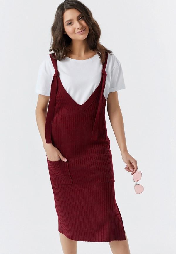 женское платье fly, бордовое