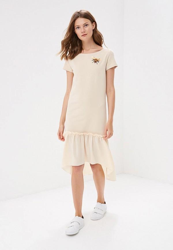 Купить Платье Fashion.Love.Story, MP002XW196AF, бежевый, Весна-лето 2018