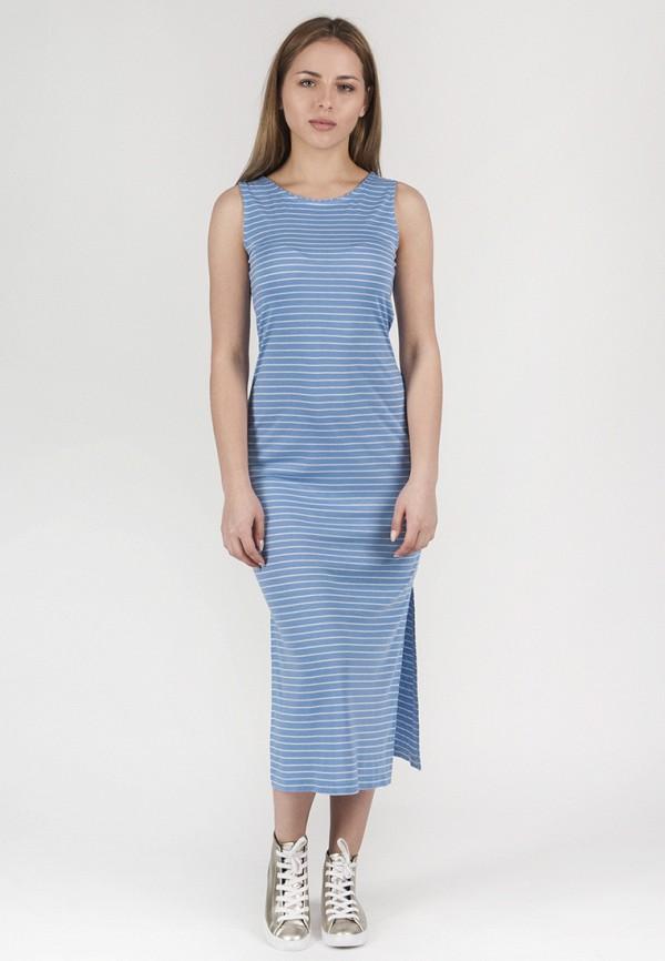 женское платье миди vergans, голубое