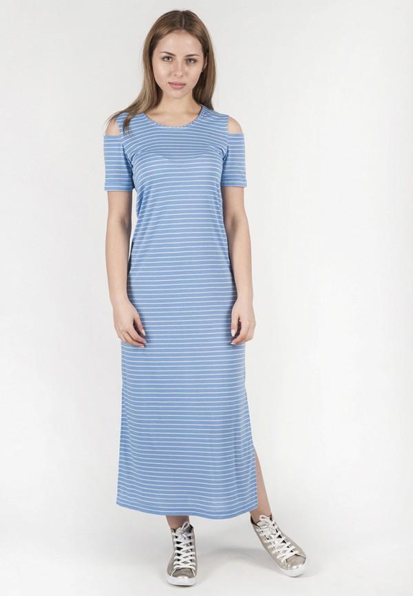 женское платье макси vergans, голубое