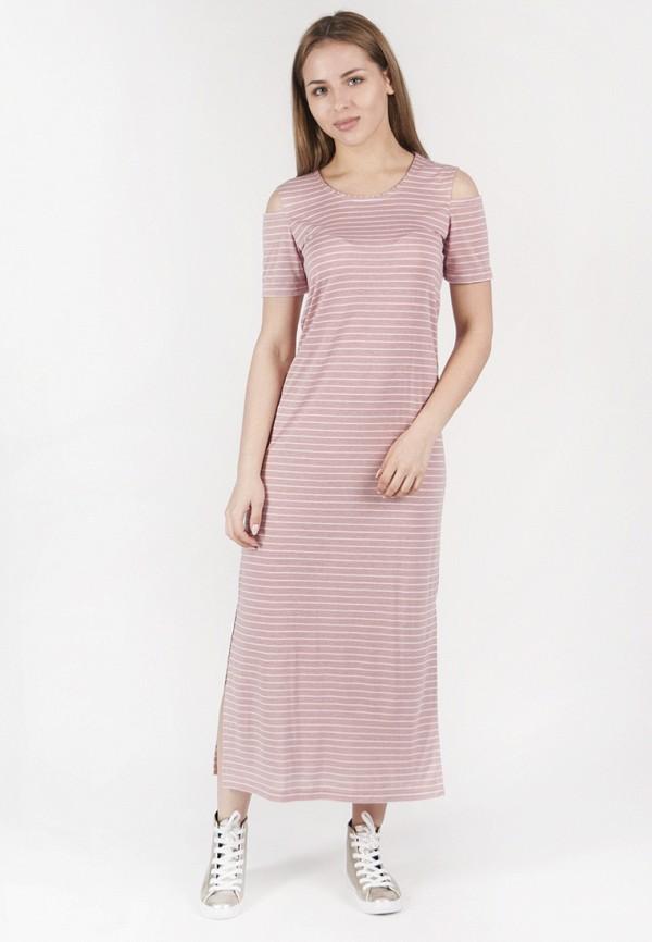 женское платье макси vergans, розовое