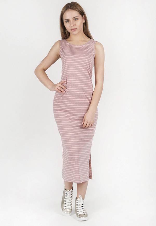 женское платье миди vergans, розовое