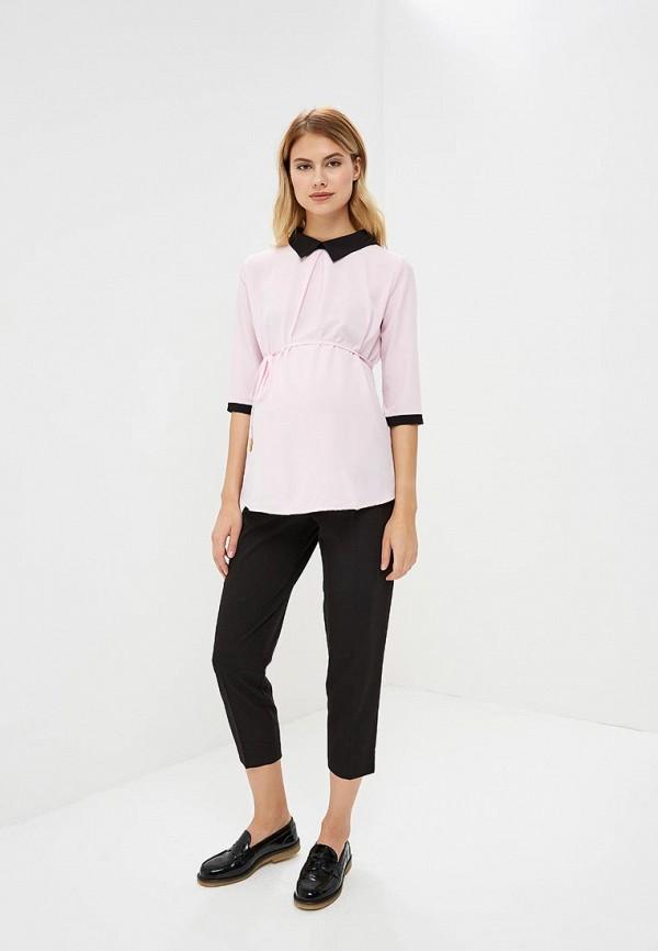 Фото 2 - Женскую блузку 9Месяцев 9Дней розового цвета