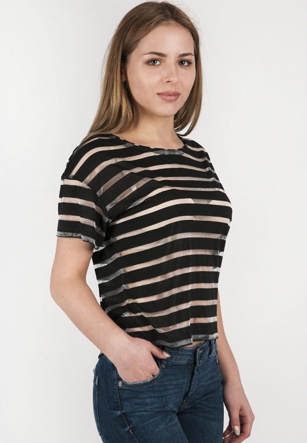 женская футболка vergans, черная