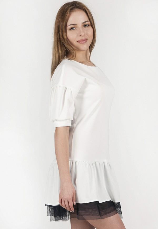 женское повседневные платье vergans, белое