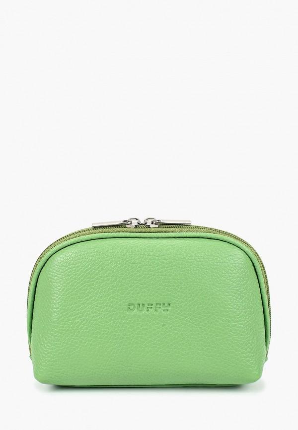 женская косметичка duffy, зеленая