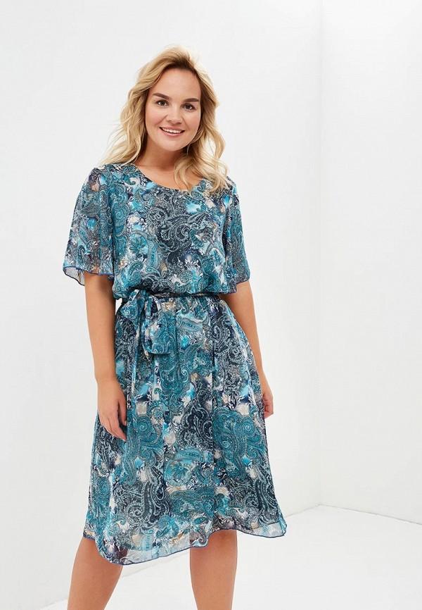 женское повседневные платье olsi, бирюзовое