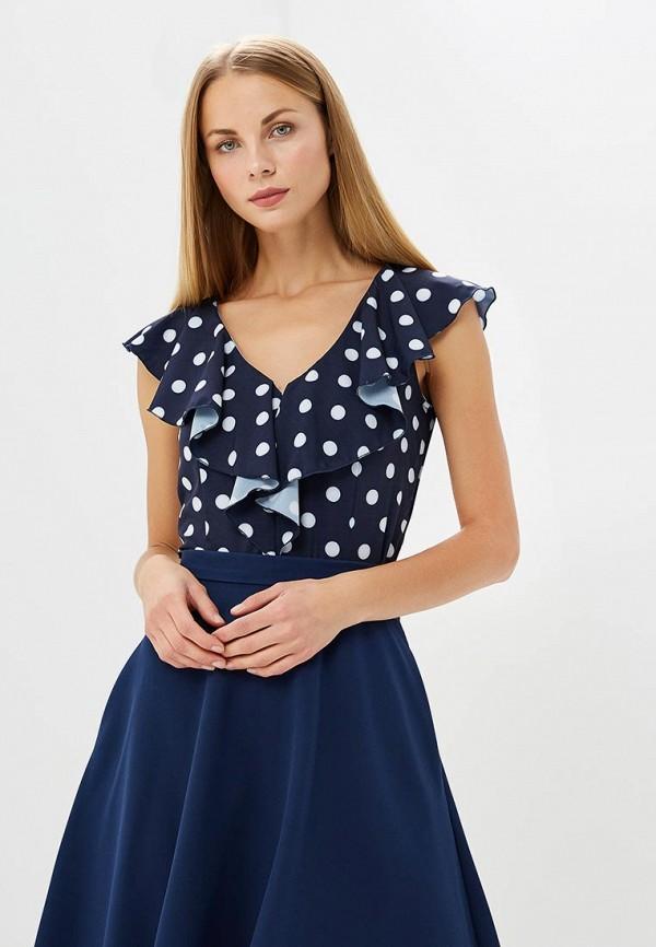 Купить Блуза Vittoria Vicci, MP002XW1998R, синий, Весна-лето 2018