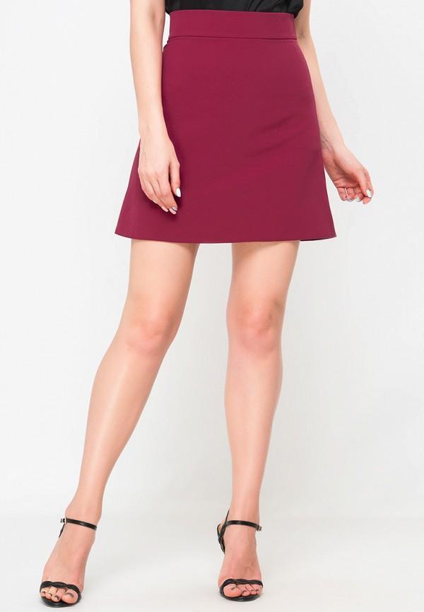 женская юбка limonti, бордовая